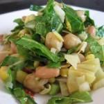 Салат из топинамбура  с кресс-салатом