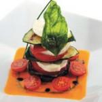 Овощная пирамидка с сыром