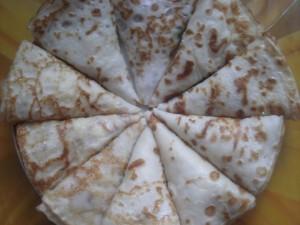 Рецепт блинов на кислом кефире с яблоками